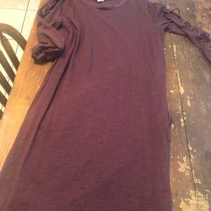 👗 3 for $25 EUC. Eggplant maxi dress lace sleeves